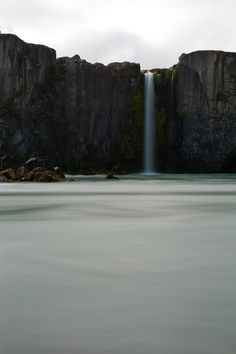 Dream destinations: Iceland: The taste of Petrol and Porcelain | Interior design, Vintage Sets and Unique Pieces www.petrolandporcelain.com  Iceland - Smaller outlet of the falls at Godafoss.