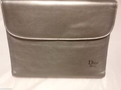 Dior  Beuty Silver Faux Leather Case 3 Sections, Mirror  Make Up Case #DiorBeuty