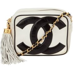 CHANEL VINTAGE Double C bag (€2.590) ❤ liked on Polyvore featuring bags, handbags, chanel, purses, borse, hand bags, evening purses, vintage leather purse, evening handbags and vintage leather handbags