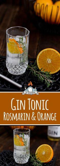 Gin Tonic Rezept mit Rosmarin & Orange