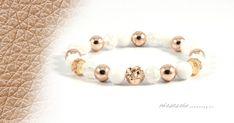 Szeretem az anyukámat ásványkarkötő A 17, Gold Beads, Beaded Bracelets, Rose Gold, Herceg, Jewelry, Jewellery Making, Pearl Bracelets, Jewelery