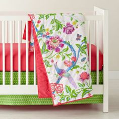 Singing in the Rainforest Crib Bedding