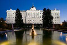 Jardines de Sabatini en el Palacio Real de Madrid.