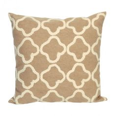 Linen Square Crochet Tile Throw Pillow
