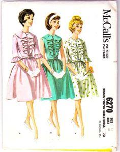 McCalls 6270 Jabot Dress 1960s Vintage by allthepreciousthings