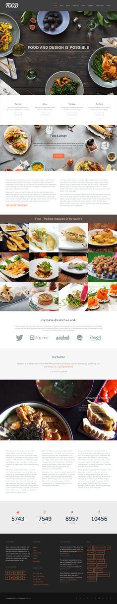 Food from Mojo Themes - a stunning wordpress theme.