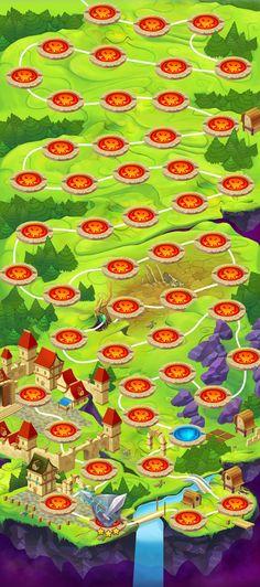 Map for Kingdom.vs.Dragons by Ju Ju, via Behance