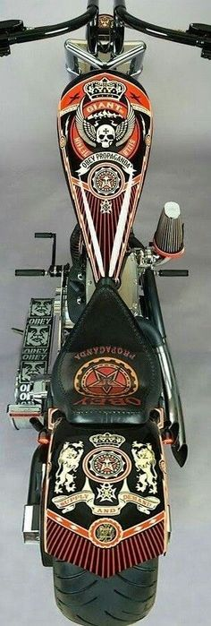 Custom Paintjob Inspirations | Bobber & Chopper Motorcycles | Old school vintage style bike art & apparel