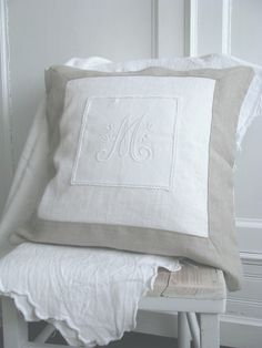 hard to find antique linen with the right initial, but worth searching for.