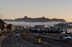 The sea fog has flowed in from the English Channel to fill the River Dour valley. Photo taken from an elevated position below the Western Heights at 7.10 am on Thursday, November 5th 2020 - first day of the second coronavirus (covid-19) lockdown - during a bike ride. #dover #kent #england #uk #weather #lockdown #coronavirus #covid19 #exercise #cycling #dovercastle #EHdovercastle #castle #fog