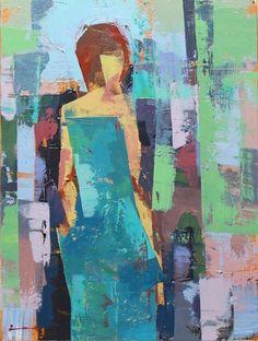 Huile originale Ashley IIIsur toile 12 x 16 par ChanceLee sur Etsy, $90,00