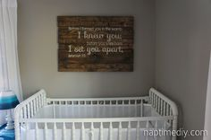 I've been on the hunt for inspiration for a big piece of art in the baby's room.  Found it!