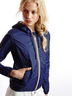 raincoat K-Way Lily Plus Lily Plus Navy Navy Raincoat, Hooded Raincoat, Raincoats For Women, Outerwear Women, Nylons, Wind Jacket, Rain Wear, Sportswear, Windbreaker