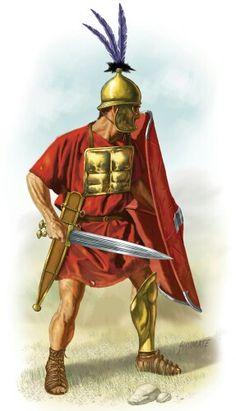 Hastati, first rank of the Roman Armies, c.200 BC.