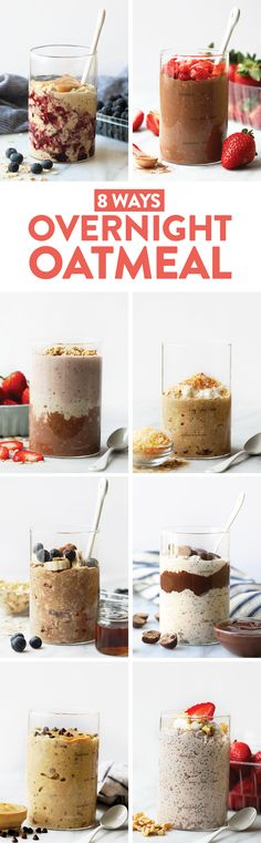 A big bowl of overnight oats is the best way to start the day! Overnight oatmeal is a great healthy breakfast option that can be prepared ahead of time and last the entire week. In this post, we'll show you how to make overnight oats, answer overnight oatmeal FAQs, and share 8 of our favorite overnight oats recipes!