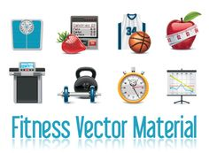 Free Fitness Vector Material