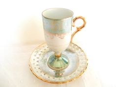 Lusterware Teacup Demitasse Tilso Celadon by ShoppeAroundTheWorld, $18.99