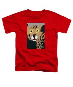 Patrick Francis Red Designer Toddler T-Shirt featuring the painting Jaguar 2014 by Patrick Francis