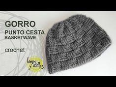 ▶ Gorro Unisex Crochet Punto Cesta - YouTube