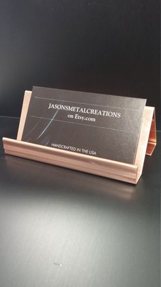 The hubby could use this in his office hand stamped copper business simple but elegant business card holder made from 20 ounce copper which gives the holder a colourmoves