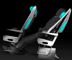 Are these the economy plane seats of the future? Airplane Interior, Airplane Design, Airplane Seats, Aircraft Interiors, Luxury Bus, Futuristic Furniture, Aircraft Design, Cabin Design, Automotive Design