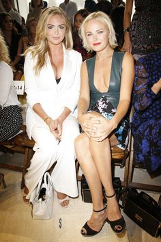 Kate Upton and Malin Ackerman in the front row at Diane von Furstenberg Spring 2016