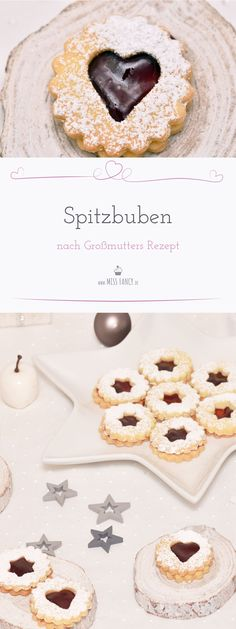 Rogue Boys According to Grandma & Recipe Miss Fancy - Everyday Recipes - Delicious recipe of Spitzbuben cookies for Christmas - Italian Cookie Recipes, Italian Desserts, Mexican Food Recipes, Dessert Recipes, Italian Pastries, Cake Recipes, Fancy Desserts, Holiday Desserts, Delicious Desserts