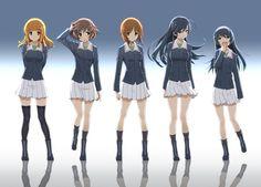 akiyama yukari,Girls und Panzer,Anime,Аниме,isuzu hana,nishizumi miho,takebe saori,reizei mako,mofu