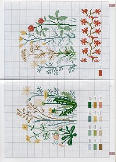 Wildflower embroidery graph pattern