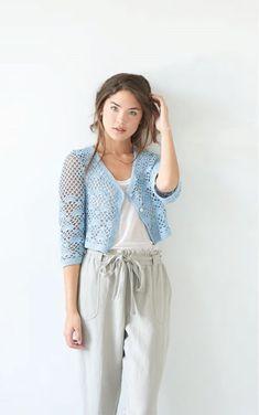 Ravelry: Tucker pattern by Alison Green Crochet Cardigan, Crochet Yarn, Bolero Crochet, Crochet Vests, Crochet Sweaters, Crochet Classes, Learn To Crochet, Alison Green, Jackets