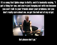 BTVS lol James Marsters explaining Spike's song in OMWF