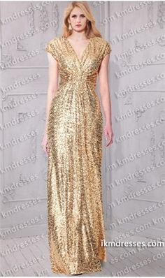 floor length sequin gold dress - Google Search