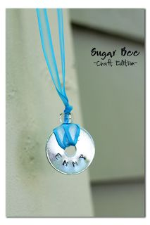 Stamped Washer Necklaces ~ Sugar Bee Crafts