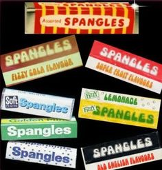 Mars Spangles Flavours - loved the acid drops. These were the best sweets of my childhood. You could always afford a packet of spangles. Old Sweets, Vintage Sweets, Retro Sweets, Vintage Food, Vintage Stuff, Vintage Ads, 1970s Childhood, My Childhood Memories, Sweet Memories