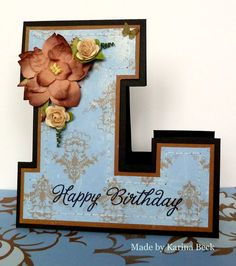 letter shaped card