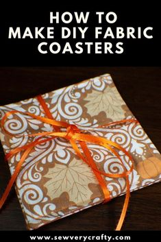 100 Brilliant Projects to Upcycle Leftover Fabric Scraps - Unfurth Sewing Hacks, Sewing Tutorials, Sewing Tips, Sewing Ideas, Sewing Crafts, Fabric Coasters, Quilted Coasters, Diy Coasters, Leftover Fabric