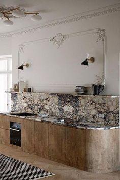 Kitchen Interior, Kitchen Decor, Marble Interior, Kitchen Sinks, Luxury Interior, Interior Design, Moore House, Townhouse Designs, Timeless Kitchen