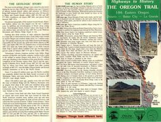Highways to history : the Oregon Trail : I-84 : eastern Oregon, Ontario-Baker City-La Grande, by the Oregon Department of Geology and Mineral Industries