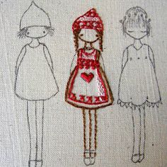 Scandinavian girls embroidery by lilipopo