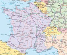 Rail map of France