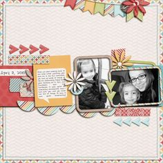 digital scrapbook layout by bre