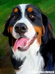 """""""Baby Berner"""" - Bernese Mountain Dog"""