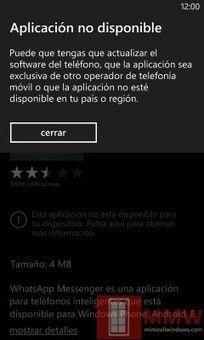 #Apps :  Las Aplicaciones Incompatibles con #WindowsPhone8
