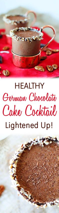 This German Chocolate Cake Cocktail is a lightened up liquid version of a classic decadent dessert.