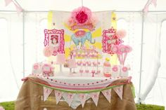 """This circus party spectacular! It has just the right mix of girliness and vintage carnival in this fun pallet of colors."""""""