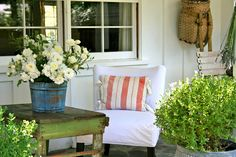 The Polished Pebble: True Blue Country: the back porch
