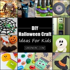 If you're looking for some creative and inspiring DIY Halloween craft ideas for kids, then you're definitely going to love this post! These ideas will. Diy Halloween Games, Halloween Season, Halloween Party, Halloween Stuff, Scary Decorations, Halloween Decorations, Fall Crafts, Diy Crafts, Art For Kids