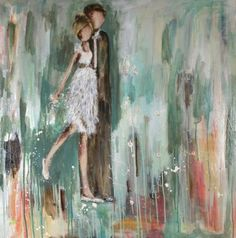 Pretty art by Kim Schuessler Dance Paintings, Primitive Folk Art, Couple Art, Pretty Art, Types Of Art, Beautiful Paintings, Love Art, Creative Art, Illustration Art