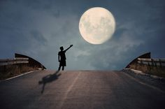 Presenting the Moon  by Adrian Limani