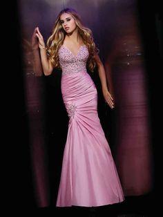 Trumpet/Mermaid Straps Taffeta Floor-length Sleeveless Rhinestone Prom Dresses at pickedlooks.com